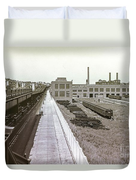 207th Street Subway Yards Duvet Cover