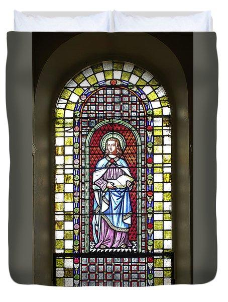 Saint Anne's Windows Duvet Cover