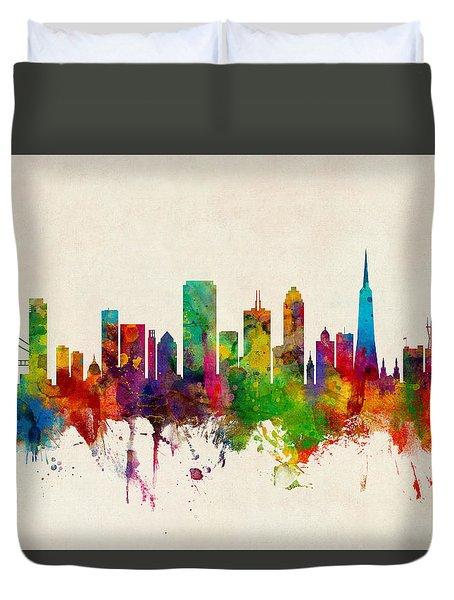 San Francisco City Skyline Duvet Cover