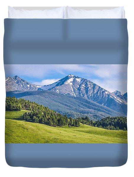 #215 - Spanish Peaks, Southwest Montana Duvet Cover