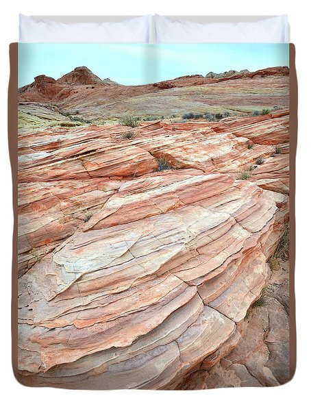 Duvet Cover featuring the photograph Colorful Sandstone In Valley Of Fire by Ray Mathis