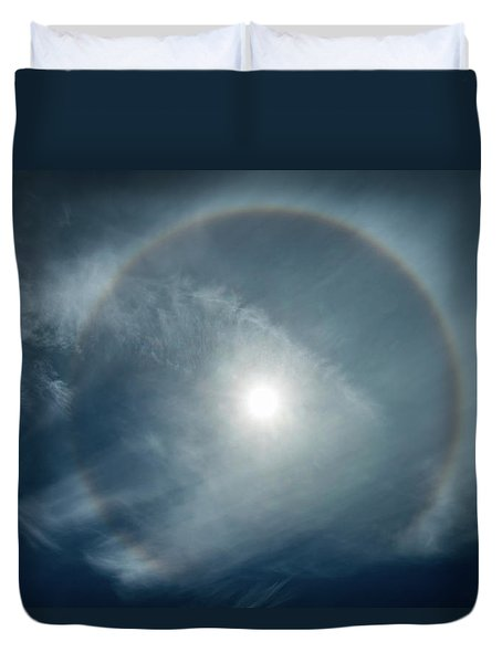Duvet Cover featuring the photograph 22 Degree Solar Halo by William Lee