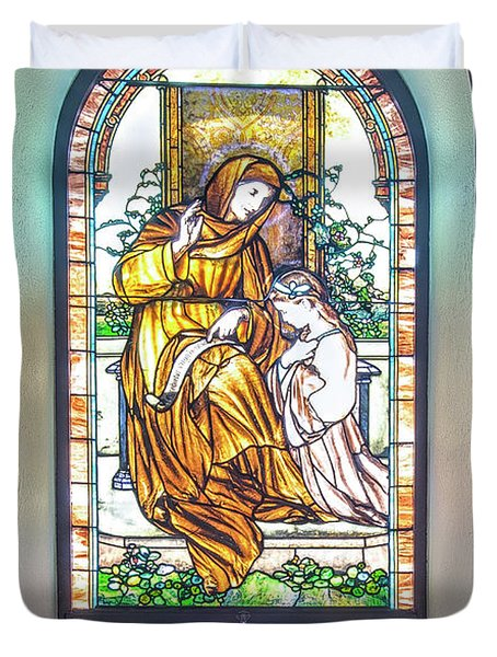 Saint Anne's Windows Duvet Cover
