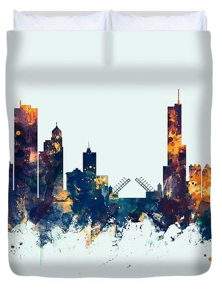 Chicago Illinois Skyline Duvet Cover