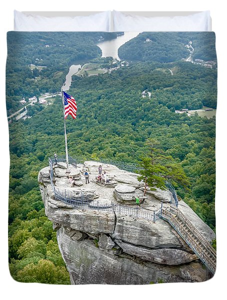 Lake Lure And Chimney Rock Landscapes Duvet Cover
