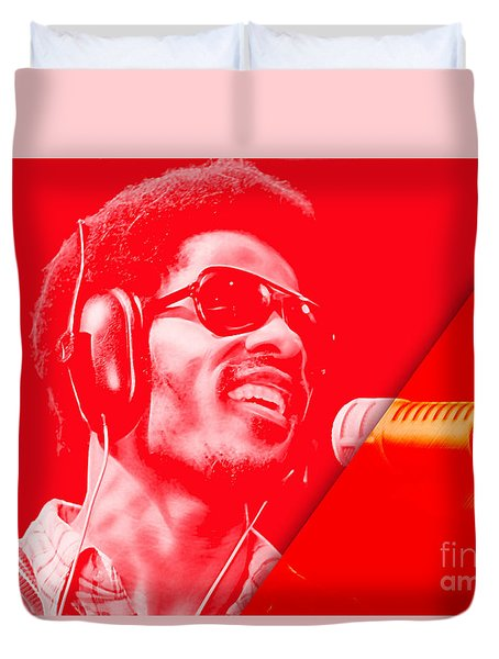 Stevie Wonder Collection Duvet Cover by Marvin Blaine
