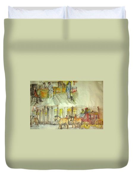the ole' West my way album Duvet Cover