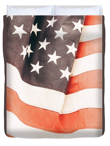 Duvet Cover featuring the photograph American Flag by Les Cunliffe