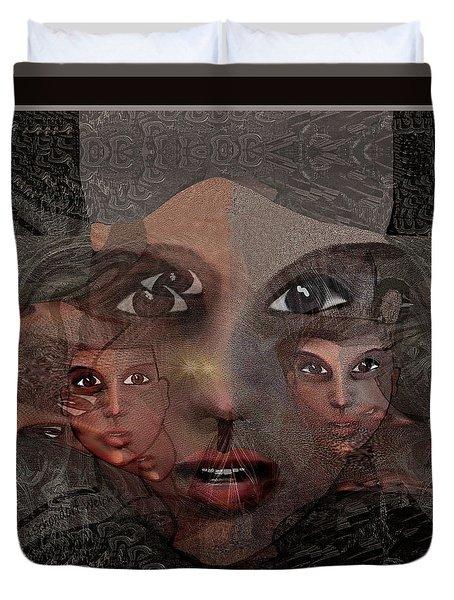 2327- Portrait Fractal 2017 Duvet Cover