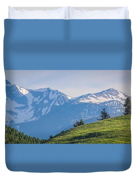 #238 - Spanish Peaks, Southwest Montana Duvet Cover