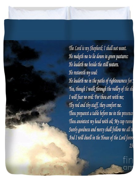 23rd Psalm Duvet Cover by Methune Hively