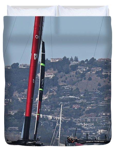 America's Cup San Francisco Duvet Cover