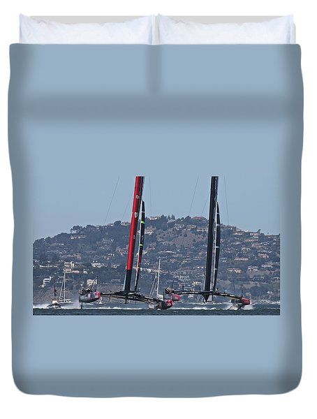 America's Cup San Francisco Duvet Cover
