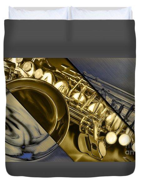 Saxophone Collection Duvet Cover