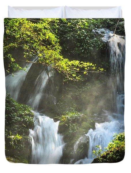 Waterfall Scenery Duvet Cover