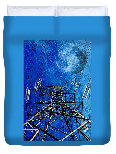 Electric Power Transmission... Duvet Cover