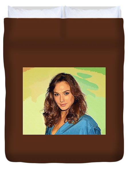 Gal Gadot Art Duvet Cover by Best Actors
