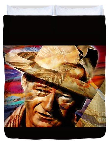 John Wayne Collection Duvet Cover by Marvin Blaine