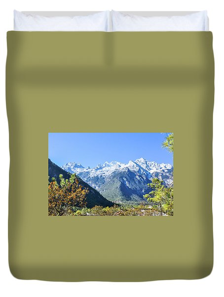 Duvet Cover featuring the photograph The Plateau Scenery by Carl Ning