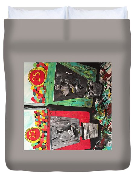 25cts Duvet Cover by Olivier Calas
