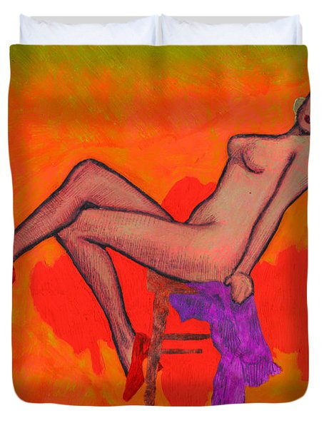 Nude Woman Duvet Cover
