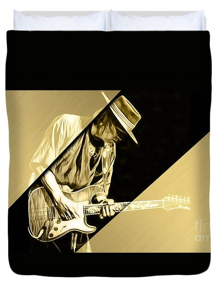 Stevie Ray Vaughan Collection Duvet Cover by Marvin Blaine