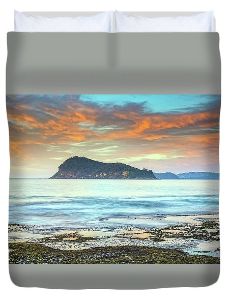 Sunrise Seascape With Clouds Duvet Cover