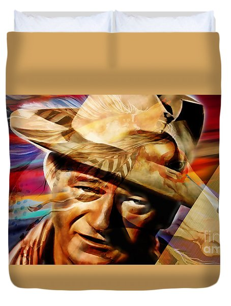 John Wayne Collection Duvet Cover by Marvin Blaine