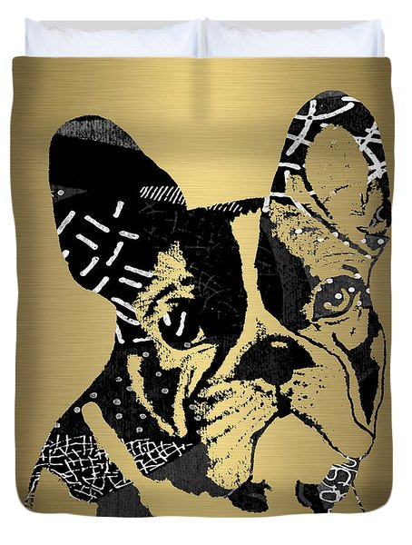 French Bulldog Collection Duvet Cover by Marvin Blaine