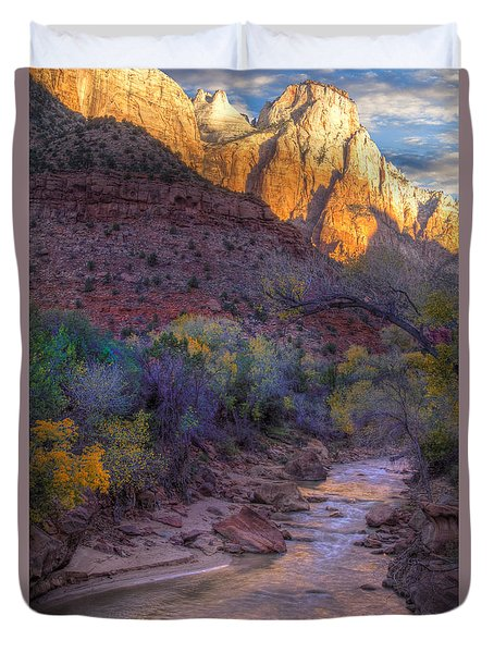 Zion National Park Utah Duvet Cover by Utah Images
