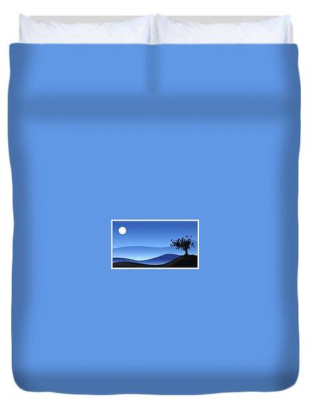 28277 2d Simple Digital Art Landscape Duvet Cover