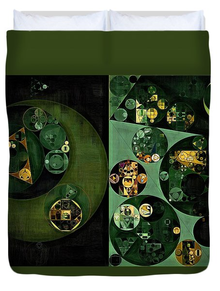 Duvet Cover featuring the digital art Abstract Painting - Smoky Black by Vitaliy Gladkiy