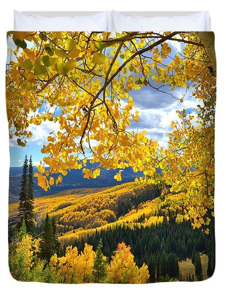 Ohio Pass Fall Colors Duvet Cover