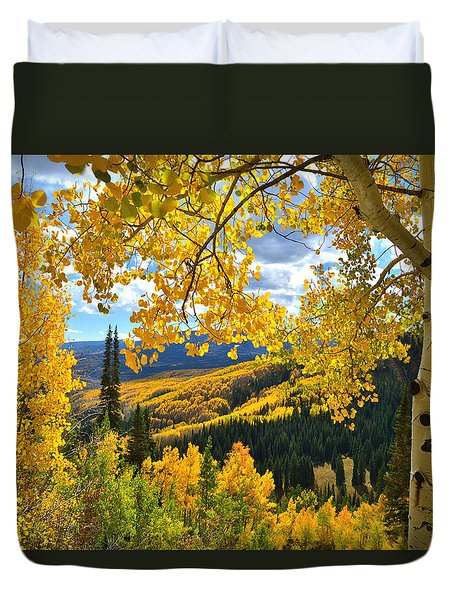 Ohio Pass Fall Colors Duvet Cover