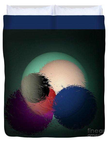 Duvet Cover featuring the digital art 2986-2017 by John Krakora