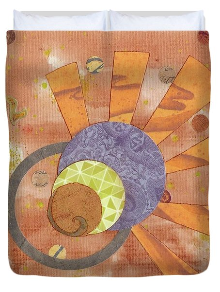 Duvet Cover featuring the mixed media 2life by Desiree Paquette