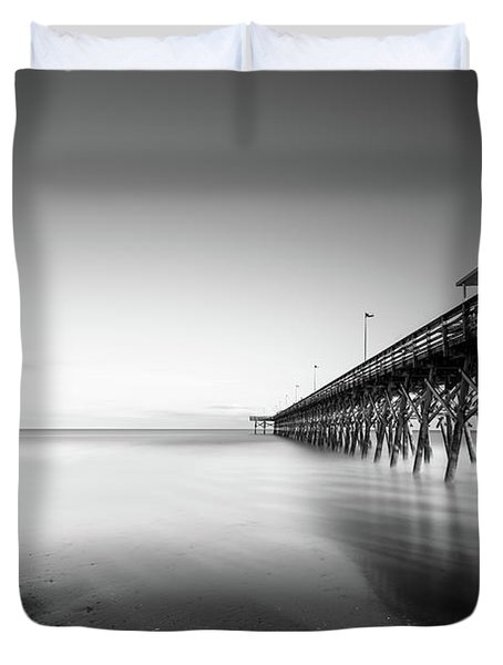 2nd Ave Pier Sunset Duvet Cover