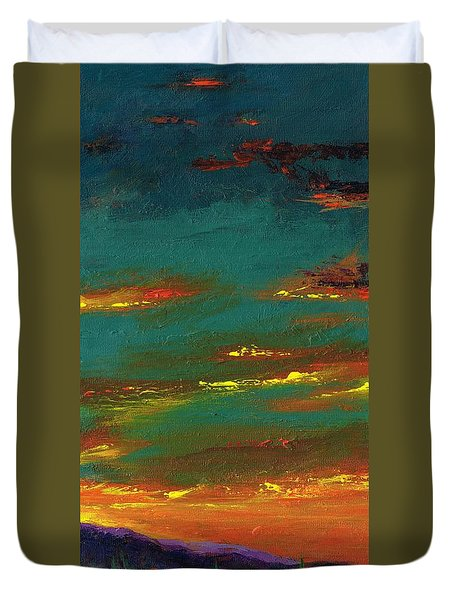 2nd In A Triptych Duvet Cover by Frances Marino