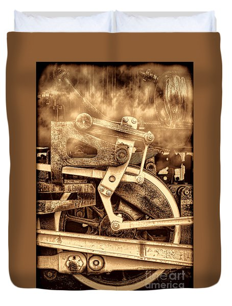 3 10 To Nowhere  Duvet Cover by American West Legend By Olivier Le Queinec