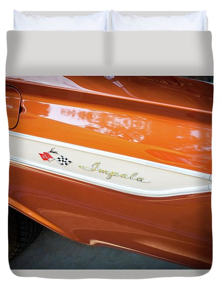 1961 Chevrolet Impala Ss  Duvet Cover by Rich Franco