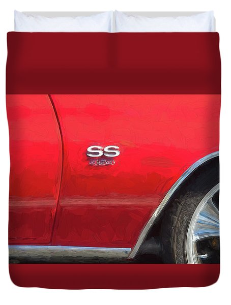 1970 Chevy Chevelle 454 Ss  Duvet Cover by Rich Franco