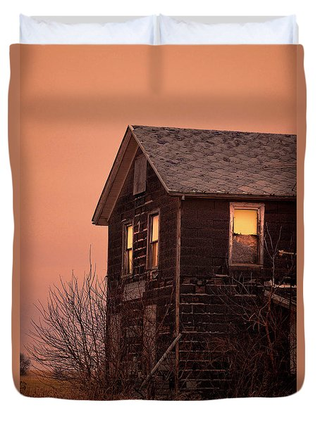 Duvet Cover featuring the photograph Abandoned House by Jill Battaglia
