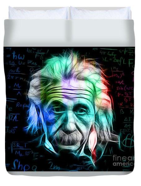 Albert Einstein Collection Duvet Cover by Marvin Blaine