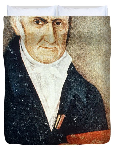 Alessandro Volta, Italian Physicist Duvet Cover by Science Source