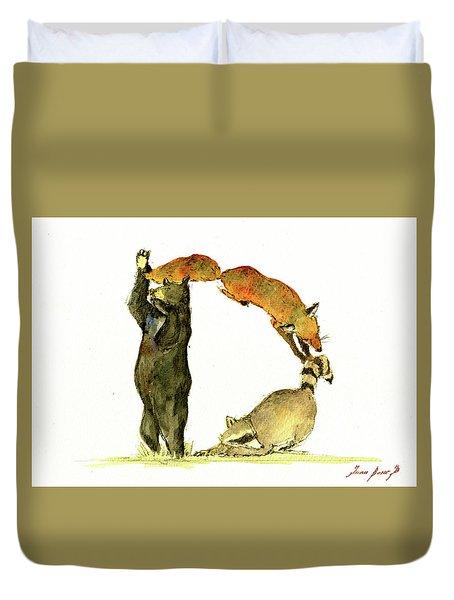 Animal Letter Duvet Cover