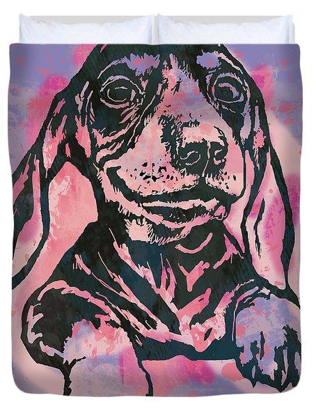 Animal Pop Art Etching Poster - Dog  5  Duvet Cover
