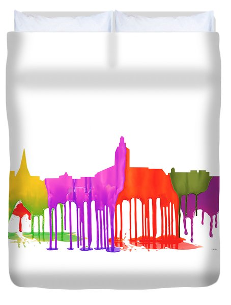 Annapolis Maryland Skyline      Duvet Cover by Marlene Watson