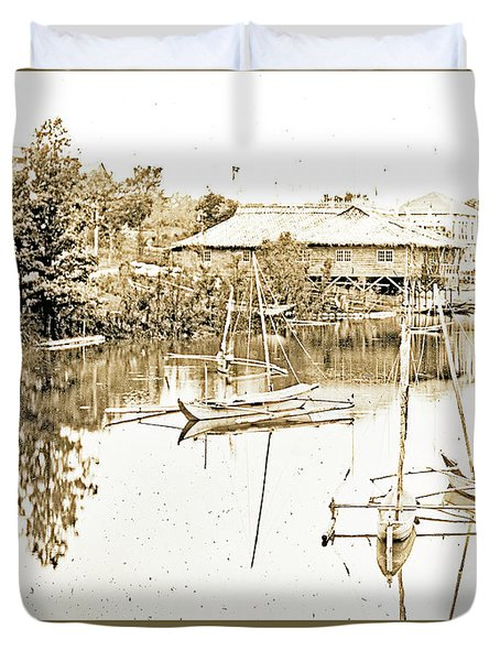 Arrow Head Lake, Philippine Village, 1904 Worlds Fair, Vintage P Duvet Cover