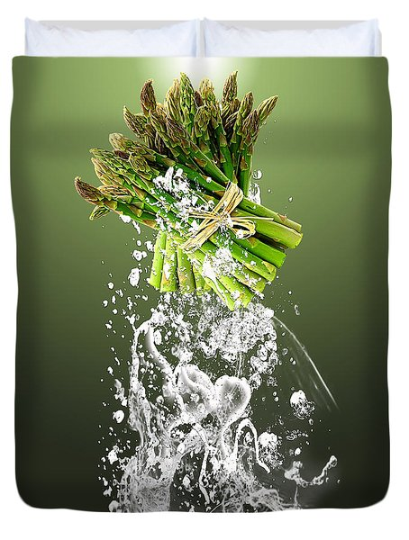 Asparagus Splash Duvet Cover