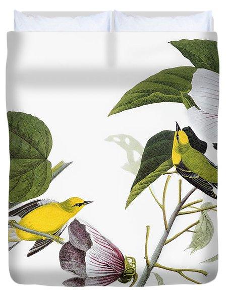 Audubon Warbler Duvet Cover